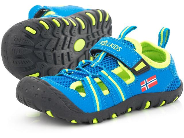 TROLLKIDS Sandefjord Sandals Kids medium blue/lime